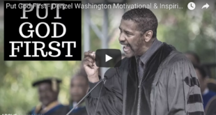 Put God First – Denzel Washington Motivational & Inspiring Commencement Speech