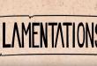 耶利米哀歌 Lamentations