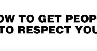 How to get people to respect you