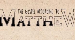 Matthew part 1